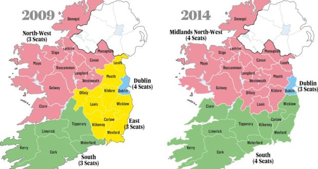 Map Of Dublin 3 Ireland.New European Parliament Constituencies Have Wonderland Logic