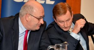 Minister for the Environment  Phil Hogan and  Taoiseach Enda Kenny: to discuss water charges at a Cabinet meeting tomorrow. Photograph: David Sleator/The Irish Times