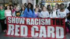 Young people  participate in the Show Racism the Red Card campaign. File photograph: Cyril Byrne/The Irish Times