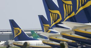 There were declines today for Ryanair, which fell 0.7 per cent to €6.83. Photograph: Alan Betson