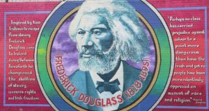 A mural honouring Frederick Douglass in Belfast.