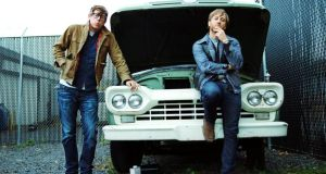 Black and blue: Patrick Carney and Dan Auerbach