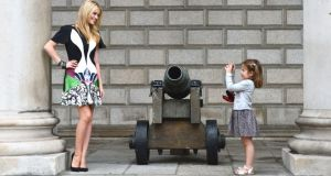 Little girl snaps a photo of Laura Whitmore at the launch of last years Dublin Fashion Festival. Photograph: Alan Betson/ The Irish Times