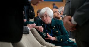 Janet Yellen, chair of the US Federal Reserve, attends the International Monetary and Financial Committee (IMFC) meeting at the International Monetary Fund and World Bank Group Spring Meetings in Washington earlier this month. Photographer: Andrew Harrer/Bloomberg