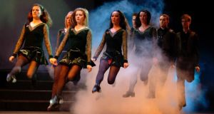 A troupe of Riverdancers in action. Photograph: Jack Hartin/Riverdance/PA Wire