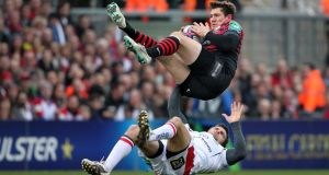 The Alex Goode indident which led to Ulster's Jared Payne being sent off against Saracens.