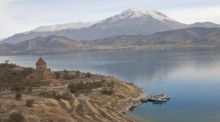 Lake Van: there is a train from Tehran to Ankara, in Turkey, the Trans Asia Express which takes two nights and includes a crossing of Lake Van. Photograph: Thinkstock