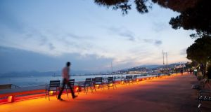 A walk along La Croisette in Cannes, France. Photograph: Rebecca Marshall/New York Times