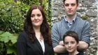 Writer Nuala Ní Chonchúir with  sons Cúán (at back) and Finn at their home in Ballinasloe. Photograph: Joe O'Shaughnessy
