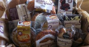 A hamper of gluten-free goodies from Goodness Grains