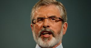 Gerry Adams: the Sinn Féin president was arrested under the Terrorism Act 2000 and technically could be held for up to 28 days. Photograph: Alan Betson/The Irish Times