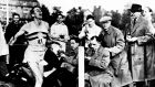 A file photo dated May 6th, 1954 of Roger Bannister breaking the four minute mile. Photograph: PA