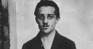 Serbian student Gavrilo Princip, who assassinated Archduke Francis Ferdinand, igniting conflagration of WWI & subsequent world events into present day, in jail cell awaiting trial. Photograph: Time Life Pictures