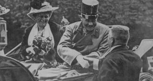 Franz Ferdinand (1863-1914) and Sophie moments before their assassination. Photograph: Time Life Pictures