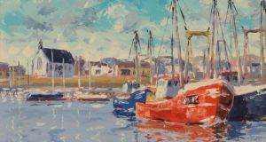 Kilmore Quay Harbour by Ivan Sutton (€800-€1,000) at Dolan's