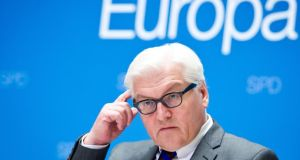 German Foreign Minister Frank-Walter Steinmeier praised Christopher Clark's timely distinction between good and bad diplomacy. Photograph: EPA/Daniel Naupold