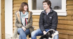 Nell Roddy and Conor Kelly, owners of Snug furniture, at home with their dog Frodo. Photograph: Studio AAD