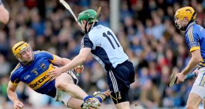"Tipperary's Padraic Maher in action against Dublin's John McCaffrey during the National League clash at Thurles. ""Kilkenny are the only team to knock us out of championship hurling since I started playing with Tipp."" Photograph: Inpho"