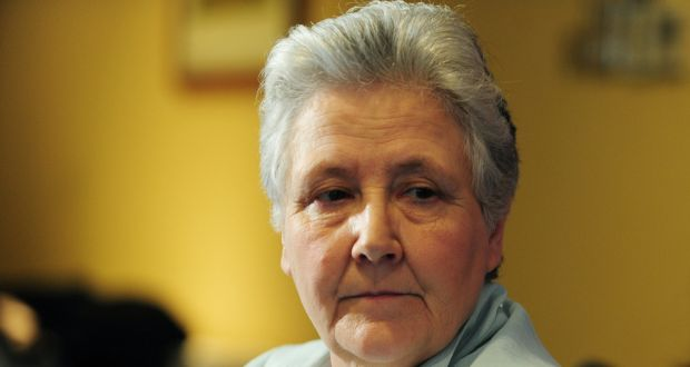 Marie Collins spoke in Rome after the first meetings of the church's new child protection body. Photograph: Aidan Crawley/The Irish Times
