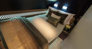 The three-room suite was described by Etihad's chief executive as 'the world's most luxurious living space in the air'