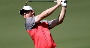 Rory McIlroy competing in last weekend's Wells Fargo Championship at Quail Hollow.
