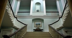 The main staircase at Whitfield Court, Co Waterford. Photograph: Eric Luke