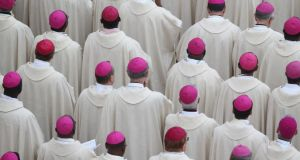 Bishops attend the  canonisation mass of John Paul II and John XXIII on April 27, in the Vatican City. Photograph: Getty