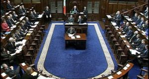 The Dáil chamber. The Peaple's Candidates criticised the party whip system for failing to allow politicians represent their constituents.