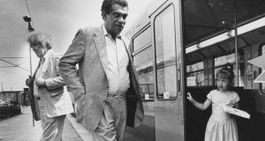 Track records: Derek Walcott with Seamus Heaney in Dún Laoghaire in 1989, three years before Walcott received the Nobel Prize. Photograph: Matt Kavanagh