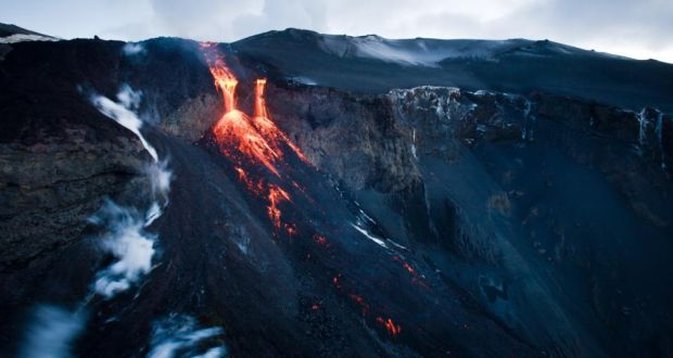 Lava flow in Iceland: if one of that country's 35 active volcanoes were to erupt on the scale Laki did in 1783, some 142,000 people across Europe would perish. Photograph: Getty Images
