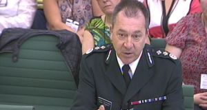 Northern Ireland's chief constable Matt Baggott gives evidence inside the House of Commons in central London, to the ongoing Northern Ireland Affairs Committee inquiry into theon-the-run (OTR) administrative process.