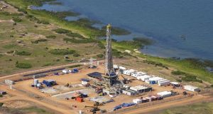 File photograph of a well owned part-owned by Tullow Oil. Photograph: Bloomberg