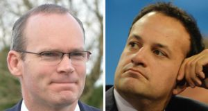 Speculation had centred on Fine Gael young turks Simon Coveney (left) and Leo Varadkar as possibilities for the role of Minister for Justice - but it was not to be.