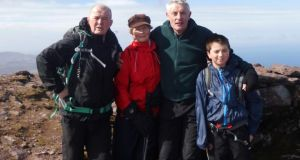 From left: Ray Creaney, Chrissie O'Meara, John G O'Dwyer and Josh Hackett on Brandon's summit