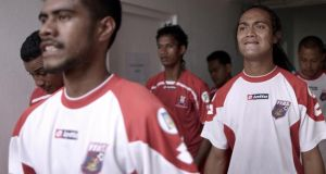 Defender Jaiyah Saelua prepares for the crunch tie against Tonga at the World Cup qualifiers in Apia, Samoa