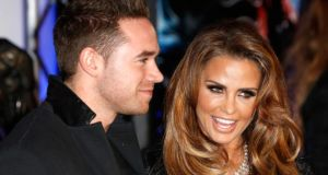 In happier times: Katie Price and Kieran Hayler. Photograph: Tristan Fewings/Getty Images