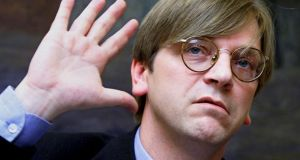 """We need a voice in Europe who can tackle Euroscepticism,""  says Liberal Democrat party leader Guy Verhofstadt. Photograph:  Benoit Doppagne/Reuters"