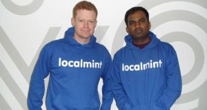 Oisin Ryan and Ranga Vadhineni of Localmint