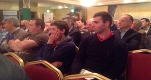 Part of the crowd at last night's event in Longford. Photograph: Ronan McGreevy/The Irish Times