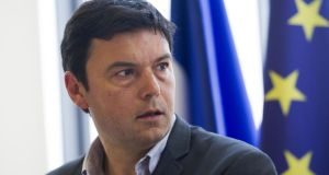 'Thomas Piketty and a group of French academics propose that a common tax base must be agreed in the euro zone along with a fiscal capacity, debt mutualisation and much deeper political integration to provide democratic accountability.' Photograph: Fred Dufour/AFP/Getty Images