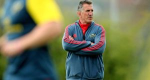 Munster head coach Rob Penney has made 10 changes to his line-up for the visit of Ulster to Thomond Park. Photograph: James Crombie/Inpho