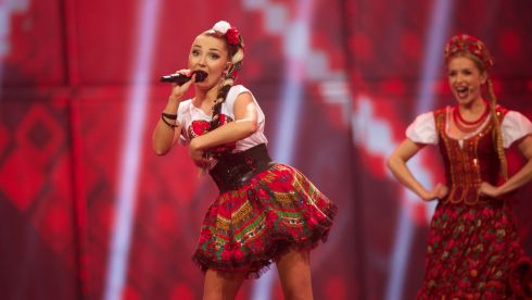 Cleo of Donatan & Cleo from Poland performs in the final. This saucy performance also spurred a little of the ususal slew of Eurovision controversy. Photograph: Ragnar Singsaas/Getty Images