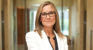 Angela Ahrendts is getting up to $68 million as a welcome gift for joining Apple.  Photograph: Simon Dawson/Bloomberg