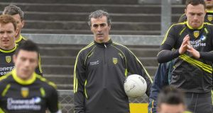 "Donegal manager Jim McGuinness: ""This is about football and it is about a big, big game for us."" Photograph: Russell Pritchard/Inpho/Presseye"