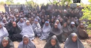 Kidnapped schoolgirls are seen at an unknown location in this still image taken from an undated video released by Nigerian Islamist rebel group Boko Haram. The leader of the Nigerian Islamist rebel group Boko Haram has offered to release more than 200 schoolgirls abducted by his fighters last month in exchange for prisoners, according to a video seen on YouTube. Photograph: Reuters