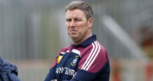 Westmeath manager Paul Bealin: There is probably a lack of leadership in my team at the moment. There are players who played well but not for 70 minutes. These guys will have to ask themselves some hard questions. Photograph: Inpho