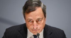 Mario Draghi, president of the European Central Bank. Photographer: Jasper Juinen/Bloomberg