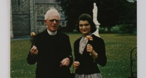 Jackie Lee Bouvier with her friend Fr Joseph Leonard.