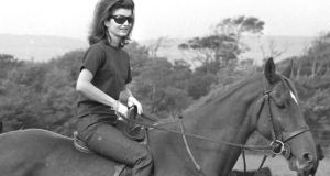 Jackie Kennedy horse riding during a family visit to Ireland in 1967. Her letters to an Irish priest have been tipped to fetch more than €1 million. Photograph: Gordon Standing/The Irish Times