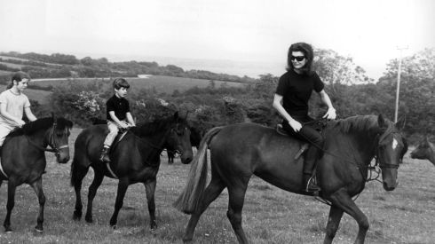 Jackie Kennedy with her children Caroline and John at Woodstown, Co Waterford, during a visit to Ireland. Photograph: Colman Doyle Collection courtesy of the National Library of Ireland